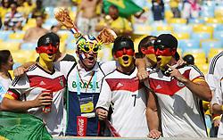 04.07.2014, Maracana, Rio de Janeiro, BRA, FIFA WM, Frankreich vs Deutschland, Viertelfinale, im Bild Germany fans // during quarterfinals between France and Germany of the FIFA Worldcup Brazil 2014 at the Maracana in Rio de Janeiro, Brazil on 2014/07/04. EXPA Pictures © 2014, PhotoCredit: EXPA/ Eibner-Pressefoto/ Cezaro<br /> <br /> *****ATTENTION - OUT of GER*****