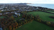 Aerial Photo Shankill Beach, Shanganagh, Cemetery, FC, Cuala, GAA, DLRC Cricket Club, M11, N11, Bray, Castle, Bray, Co Wicklow