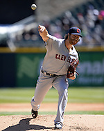 CHICAGO - APRIL 09:  Cody Anderson #56 of the Cleveland Indians pitches against the Chicago White Sox on April 9, 2016 at U.S. Cellular Field in Chicago, Illinois.  The White Sox defeated the Indians 7-3.  (Photo by Ron Vesely)  Subject: Cody Anderson