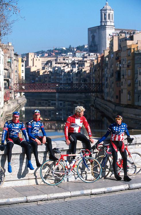 Discovery bike racing team at their base in Girona, Spain