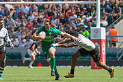 Twickenham, United Kingdom. 3rd June 2018, HSBC London Sevens Series. Game 38 Cup Semi Final. Fiji vs Ireland. <br /> <br /> Ireland's, Harry McNULTY, during the Rugby 7's, match played at the  RFU Stadium, Twickenham, England, <br /> <br /> <br /> <br /> © Peter SPURRIER/Alamy Live News