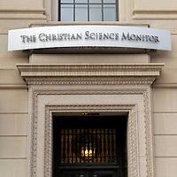 USA, Massachusetts, Boston. Publishing office of the Christian Science Monitor.