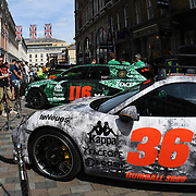 Gumball 3000 rally 2018 supercars display in Covent garden, London, UK