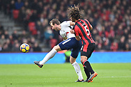 Harry Kane (10) of Tottenham Hotspur battles for possession with Nathan Ake (5) of AFC Bournemouth during the Premier League match between Bournemouth and Tottenham Hotspur at the Vitality Stadium, Bournemouth, England on 11 March 2018. Picture by Graham Hunt.