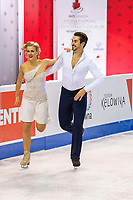 KELOWNA, BC - OCTOBER 25:  American ice dancers Madison Hubbell and Zachary Donohue perform during rhythm dance of Skate Canada International at Prospera Place on October 25, 2019 in Kelowna, Canada. (Photo by Marissa Baecker/Shoot the Breeze)