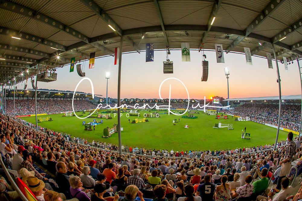 Overview stadion Aachen during the <br /> Mercedes-benz Nationenpreis<br /> Weltfest des Pferdesports CHIO Aachen 2014<br /> © Hippo Foto - Dirk Caremans