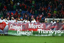 November 12, 2017 - Basel, Switzerland - FIFA World Cup Qualifiers play-off Switzerland v Northern Ireland.Switzerland players celebrating the qualification at St. Jakob-Park in Basel, Switzerland on November 12, 2017. (Credit Image: © Matteo Ciambelli/NurPhoto via ZUMA Press)