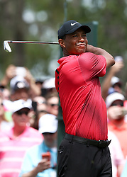 May 13, 2018 - Ponte Vedra Beach, Florida, United States - Tiger Woods tees off the 6th hole during the final round of The PLAYERS Championship at TPC Sawgrass. (Credit Image: © Debby Wong via ZUMA Wire)