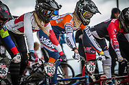 #155 (MECHIELSEN Drew) CAN and #29 (HUISMAN Ruby) NED at Round 3 of the 2020 UCI BMX Supercross World Cup in Bathurst, Australia.
