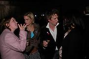 Phillipa Cole, Tara Hacking, Eddie Redmayne and Sarah Bentoven. Almeida 25th Anniversay Gala. Gagosian Gallery, Brittania St. Kings Cross. London. 27 January 2005. ONE TIME USE ONLY - DO NOT ARCHIVE  © Copyright Photograph by Dafydd Jones 66 Stockwell Park Rd. London SW9 0DA Tel 020 7733 0108 www.dafjones.com