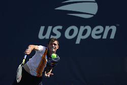 August 29, 2018 - Flushing Meadow, NY, U.S. - FLUSHING MEADOW, NY - AUGUST 29: TAYLOR HARRY FRITZ (USA) day three of the 2018 US Open on August 29, 2018, at Billie Jean King National Tennis Center in Flushing Meadow, NY. (Photo by Chaz Niell/Icon Sportswire) (Credit Image: © Chaz Niell/Icon SMI via ZUMA Press)