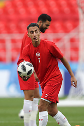 June 22, 2018 - Moscow, RUSSIA - Tunesia's Saif-Eddine Khaoui pictured during a training session of Tunisian national soccer team in the Spartak stadium, in Moscow, Russia, Friday 22 June 2018. The team is preparing for their second game against Belgium tomorrow at the FIFA World Cup 2018. BELGA PHOTO BRUNO FAHY (Credit Image: © Bruno Fahy/Belga via ZUMA Press)