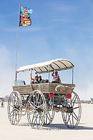 I see these friendly folks every year and I always forget the name of their amazing vehicle. Name unknown. My Burning Man 2019 Photos:<br />