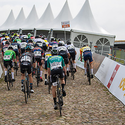 WIJSTER (NED) June 19: <br /> CYCLING <br /> Dutch Nationals Road U23 up and around the Col du VAM<br /> Backsite of the peloton