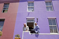 June 3, 2016 - local woman and their typical coloured homes in the quarter Cape Malay Bo-Kaap, Cape Town, Western Cape, South Africa (Credit Image: © AGF via ZUMA Press)