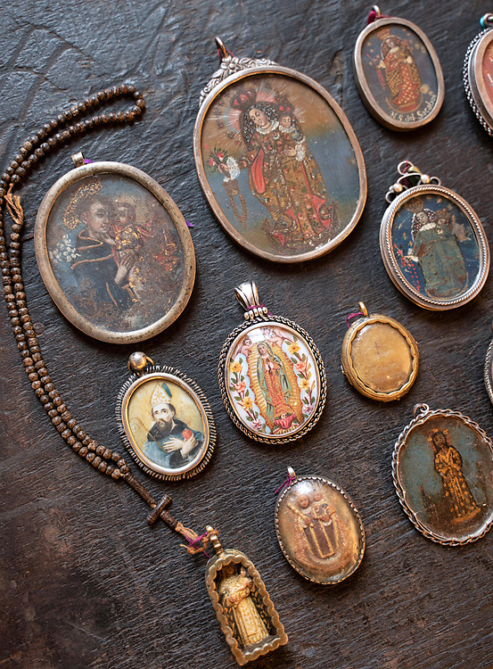 Relicarios are a often overlooked art form from the Spanish colonial era--two-sided pendants with religious paintings, carvings or prints.
