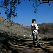 CALABASAS, CA- February 13, 2005:  People enjoy the open space in the Santa Monica Mountains that had been slated for a massive, upscale development prior to a conservancy acquiring the land and keeping it as open space on February 13, 2005. (Photo by Todd Bigelow/Aurora)