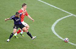West Ham's Winston Reid shields Bristol City's Matt Smith from attacking in the box. - Photo mandatory by-line: Alex James/JMP - Mobile: 07966 386802 - 25/01/2015 - SPORT - Football - Bristol - Ashton Gate - Bristol City v West Ham United - FA Cup Fourth Round