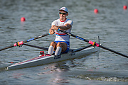 Plovdiv BULGARIA. 2017 FISA. Rowing World U23 Championships. <br /> Plovdiv BULGARIA. 2017 FISA. Rowing World U23 Championships. <br /> GBR BM1X.  ARMSTRONG, Josh.<br />     <br /> Wednesday. PM,  Heats 18:10:02  Wednesday  19.07.17   <br /> <br /> [Mandatory Credit. Peter SPURRIER/Intersport Images].