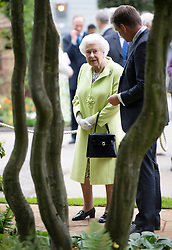 Queen Elizabeth II during her visit to the RHS Chelsea Flower Show at the Royal Hospital Chelsea, London.