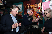 IAN MONK; MICHAEL YOUNG, launch of The Necessity of Poverty by John Bird published by Quartet. Gerry's Club, 52 Dean Street, London, 18 December 2012.