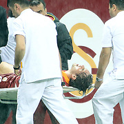 Galatasaray's Johan Elmander during their UEFA Champions League Group H matchday 3 soccer match Galatasaray between CFR Cluj at the TT Arena Ali Sami Yen Spor Kompleksi in Istanbul, Turkey on Tuesday 23 October 2012. Photo by Aykut AKICI/TURKPIX