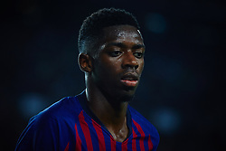 September 18, 2018 - Barcelona, Barcelona, Spain - Ousmane Dembele of FC Barcelona looks on during the UEFA Champions League group B match between FC Barcelona and PSV Eindhoven at Camp Nou on September 18, 2018 in Barcelona, Spain  (Credit Image: © Sergio Lopez/NurPhoto/ZUMA Press)