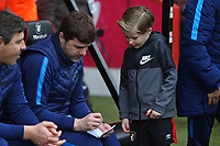 Football - 2017 / 2018 Premier League - AFC Bournemouth vs. Tottenham Hotspur<br /> <br /> Tottenham Hotspur Manager Mauricio Pochettino signs an autograph for a young fan at Dean Court (Vitality Stadium) Bournemouth <br /> <br /> COLORSPORT/SHAUN BOGGUST