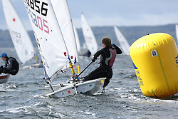 Day 4 NeilPryde Laser National Championships 2014 held at Largs Sailing Club, Scotland from the 10th-17th August.<br /> <br /> 206856, Isaac MARSH<br /> <br /> Image Credit Marc Turner