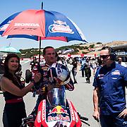 Jun 23  2018  Monterey, CA, U.S.A # 45 Jake Gagne on the grid during the Motul FIM World Superbike Race # 1 at Weathertech Raceway Laguna Seca  Monterey, CA  Thurman James / CSM