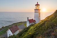 Sunset at Heceta Head Lighthouse Oregon
