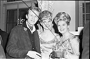 18/04/1962<br /> 04/18/1962<br /> 18 April 1962 <br /> Betty Whelan and Associates Reception at the Gresham Hotel, Dublin. At the event were (l-r): Peter Collinson (Producer, Telifis Eireann); Olive White (Telifis Eireann) and Betty Whelan.