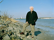 "Seamus Heaney, Nobel prize winning Poet, on the coast near his  home photographed shortly before the launch of his latest collection of poems ""District and Circle "". Seamus died August 30, 2013."