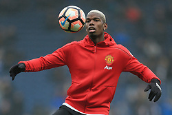19th February 2017 - FA Cup - 5th Round - Blackburn Rovers v Manchester United - Paul Pogba of Man Utd warms up - Photo: Simon Stacpoole / Offside.