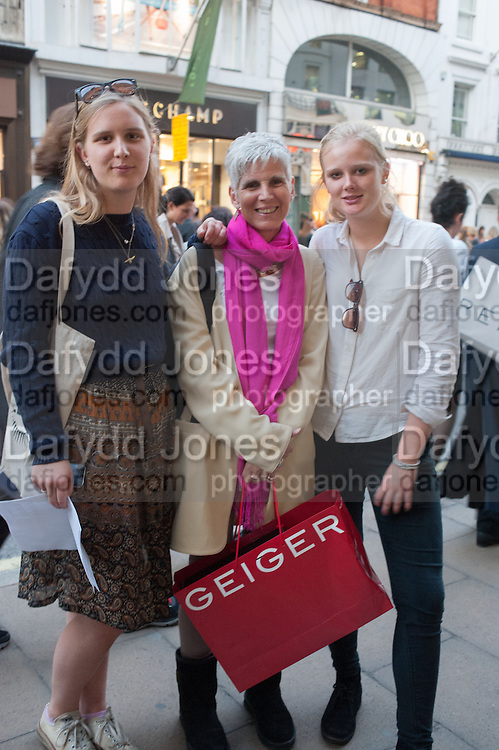 HARRIET WILSON, Vogue's Fashion night out special opening of the Halcyon Gallery.  New Bond St. London. 6 December 2012.