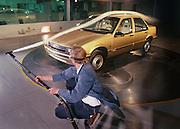 Windtunnel testing at General Motors near Detroit, Michigan.