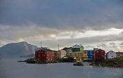 The traditional fishing village of Nyksund in Vestraalen, Nordland, Norway.