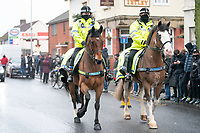 Football - 2020 / 2021 Emirates FA Cup - Round Three - Marine v Tottenham Hotspur - Rossett Park<br /> <br /> Police horses outside Rosset Park.<br /> <br /> COLORSPORT/TERRY DONNELLY