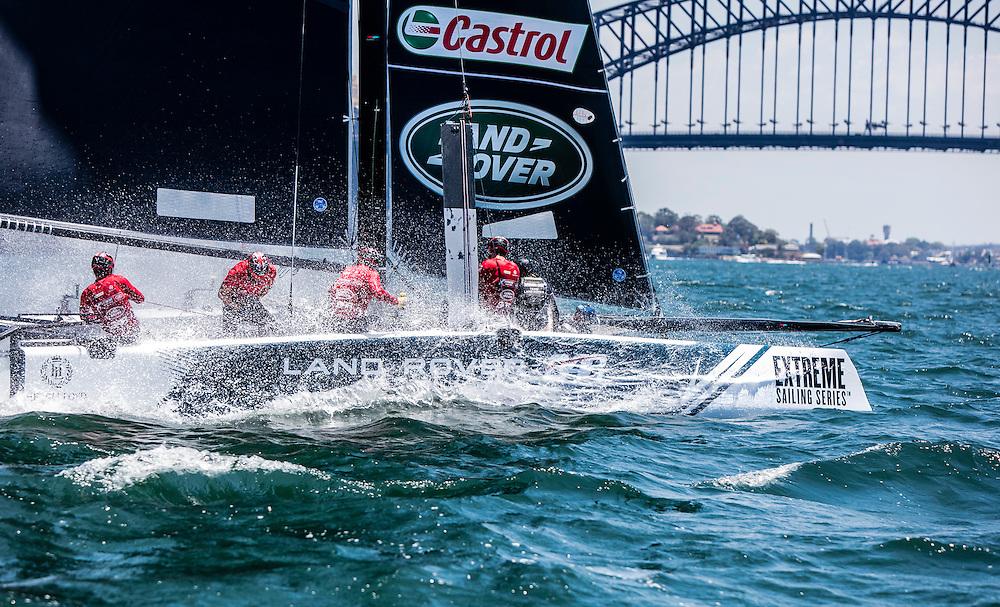 The Extreme sailing Series 2016. Act 8. Sydney. Australia . Day 1. Image licensed to Jesus Renedo/Lloyd Images