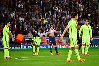 Deception LUCAS - 15.04.2015 - Paris Saint Germain / Barcelone - 1/4Finale Aller Champions League<br />Photo : Dave Winter / Icon Sport