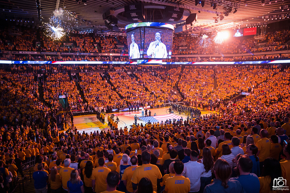 The Golden State Warriors host the Utah Jazz during Game 1 of the Western Conference Semifinals at Oracle Arena in Oakland, Calif., on May 2, 2017. (Stan Olszewski/Special to S.F. Examiner)