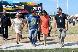 June 24, 2017 - Paris, France - La ministre des solidarites et de la santé Agnes Buzyn visite avec Luc Barruet le site de Solidays à l'hippodrome de Longchamps (Credit Image: © Visual via ZUMA Press)