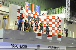 25.09.2011, Marina-Bay-Street-Circuit, Singapur, SIN, F1, Grosser Preis von Singapur, Singapur, im Bild Podium -  Jenson Button (GBR),  McLaren F1 Team  - Sebastian Vettel (GER), Red Bull Racing - Mark Webber (AUS), Red Bull Racing // during the Formula One Championships 2011 Large price of Singapore held at the Marina-Bay-Street-Circuit Singapur, 2011-09-24  EXPA Pictures © 2011, PhotoCredit: EXPA/ nph/  Dieter Mathis       ****** out of GER / CRO  / BEL ******