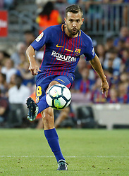 August 20, 2017 - Barcelona, Spain - Jordi Alba during La Liga match between F.C. Barcelona v Real Betis Balompie, in Barcelona, on August 20, 2017. hoto: Joan Valls/Urbanandsport/Nurphoto  (Credit Image: © Urbanandsport/NurPhoto via ZUMA Press)