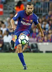 August 20, 2017 - Barcelona, Spain - Jordi Alba during La Liga match between F.C. Barcelona v Real Betis Balompie, in Barcelona, on August 20, 2017. hoto: Joan Valls/Urbanandsport/Nurphoto  (Credit Image: © Urbanandsport/NurPhoto via ZUMA Press)