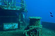 Starboard main deck wench, USS Kittiwake