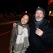 NLD/Amsterdam/20181107 - Inloop Lakshmi theatertour Adem, Eddy Zoey en partner Chantal