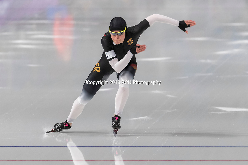 Gabriele Hirschbichler (GER) competiting in the Speed Skating - Womens' 1000m at the Olympic Winter Games PyeongChang 2018