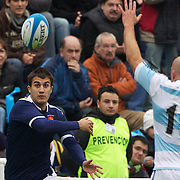 Jerome Porical, France, in action during the Argentina V France test match at Estadio Jose Amalfitani, Buenos Aires,  Argentina. 26th June 2010. Photo Tim Clayton...