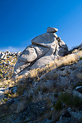 Serra da Estrela mountain range in the Natural Park. Glacial erratics boulders form interesting sculptures.